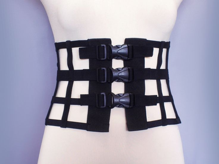 Adjustable cosplay waist belt body harness  cutout corset body cage - H3 by ZOLNAR on Etsy https://www.etsy.com/listing/234245571/adjustable-cosplay-waist-belt-body