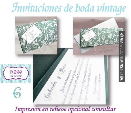 Brilliant - Invitaciones de boda para imprimir invitacion de boda vintage, es posible imprimir en relieve, de Infocopy para invitaciones de boda en Soria | CHECK OUT SOME AMAZING IDEAS FOR TASTY invitaciones de boda para imprimir AT WEDDINGPINS.NET | #Invitacionesdebodaparaimprimir #Invitacionesdeboda #Invitaciones #boda #weddings #invitations #weddinginvitations #vows #tradition #nontraditional #events #forweddings #iloveweddings #romance #beauty #planners #fashion #weddingp