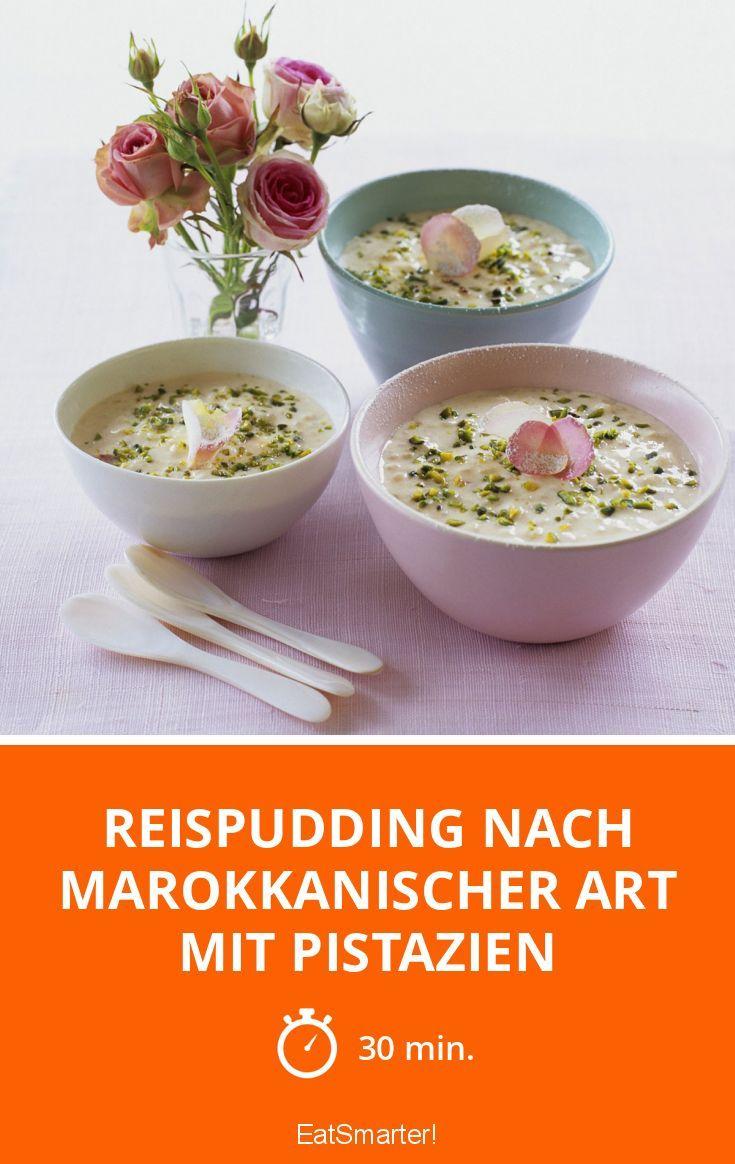 Reispudding nach marokkanischer Art mit Pistazien (Arabic Sweet Recipes)
