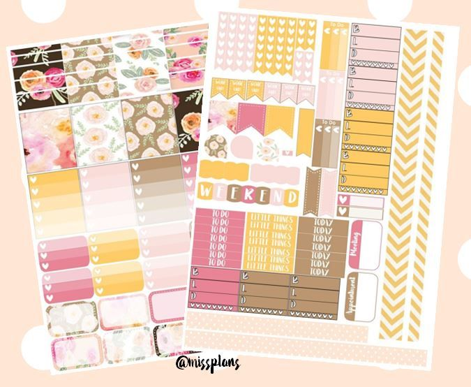Free Watercolor Floral Planner Stickers