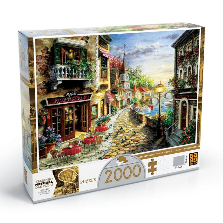 Puzzle 2000 peças Villaggio D'italia - lojagrow [R$ 110]