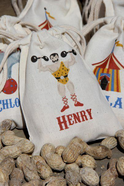 Circus Party Favors (Iron-on Blank Canvas Bags - cool for other party ideas)