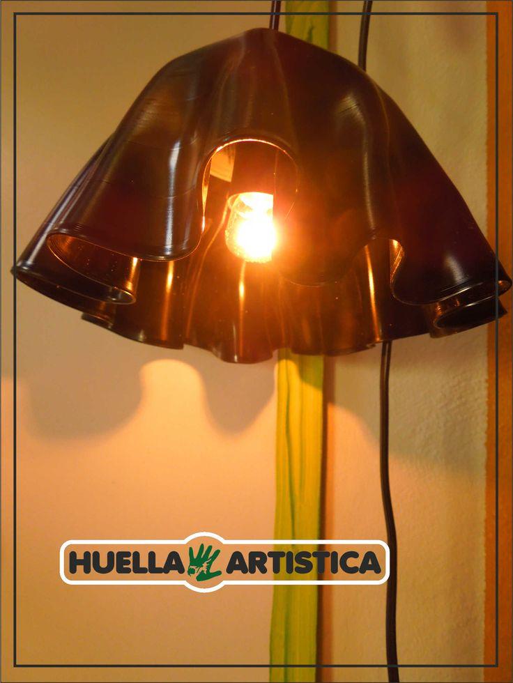 Lampara Vinilo Huella Artística.