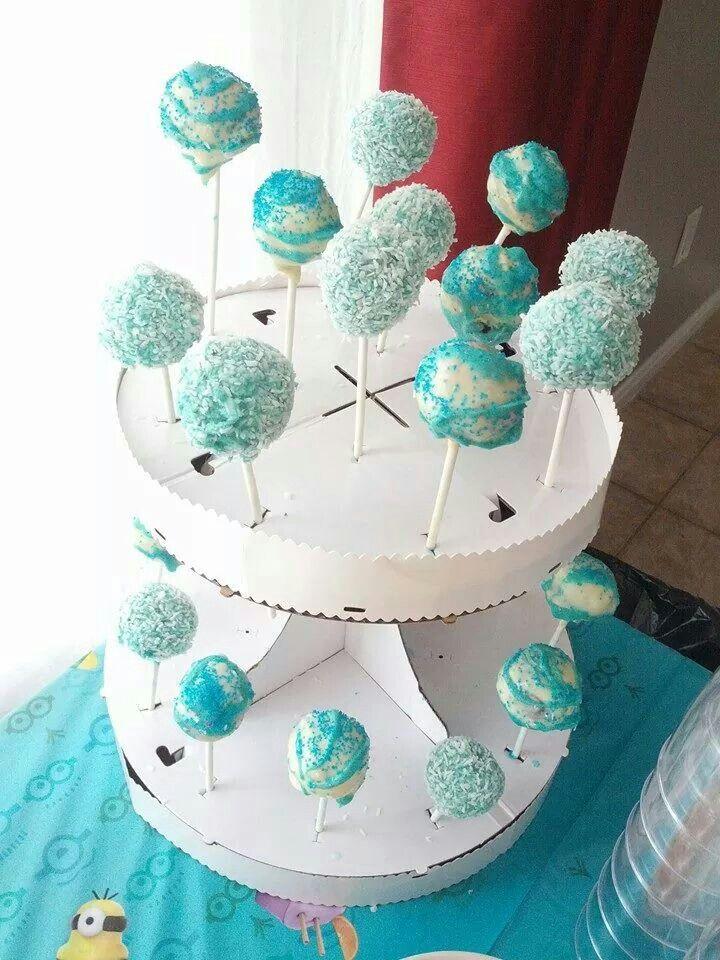 Carrousel de cakepops choco-fromage enrobé de chocolat blanc!