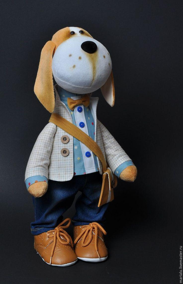 Купить Бигль. Текстильная собака. - рыжий, собака, собака игрушка, собачка, собака ручной работы