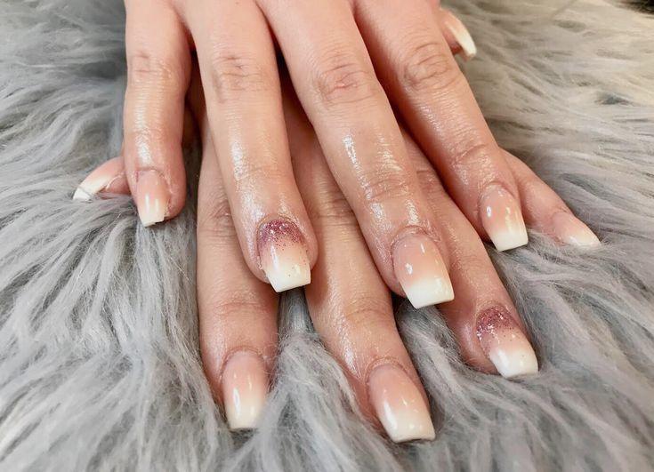 Gelish polygel nails martha stewart glitter perfectly