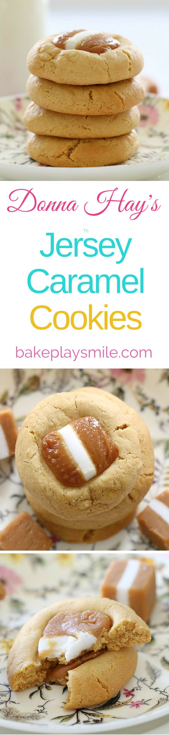 The melt and mix caramel cookies are the easiest things in the world to make.... and they look amazing!!! | Bake Play Smile #caramel #cookies #donnahay #recipe #easy