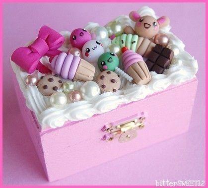 Kawaii sweets trinket box. How cute!