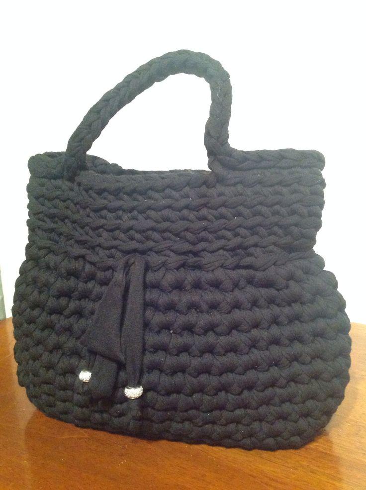 Borsa piccola nera #bag #borsa #fettuccia #black