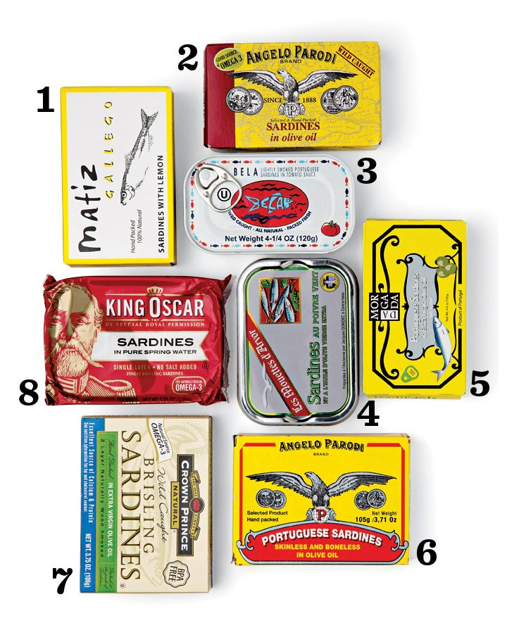 Eight Top Tins - Sardines, via SAVEUR