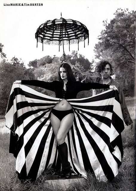 Tim Burton and Lisa Marie  Photo: Mary Ellen Mark