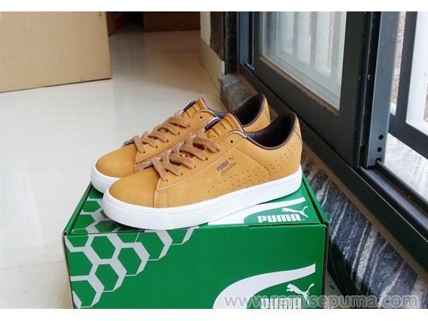 Chaussures Puma Homme Puma Suede Court Star Vulc marron jaune blanc couleur est le plus unique chaussures.