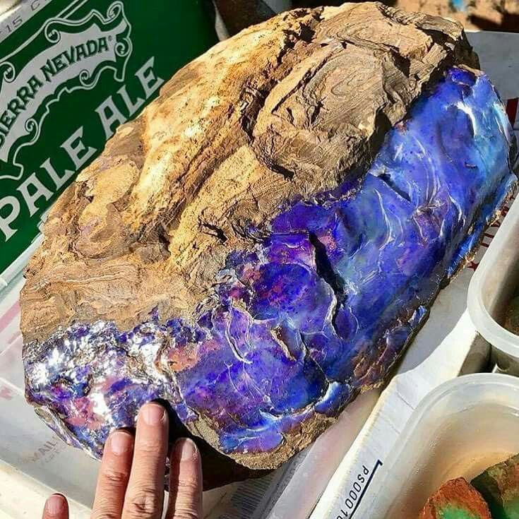 Giant Australian Opal!! I saw this one in person at Tucson Gem Show!!