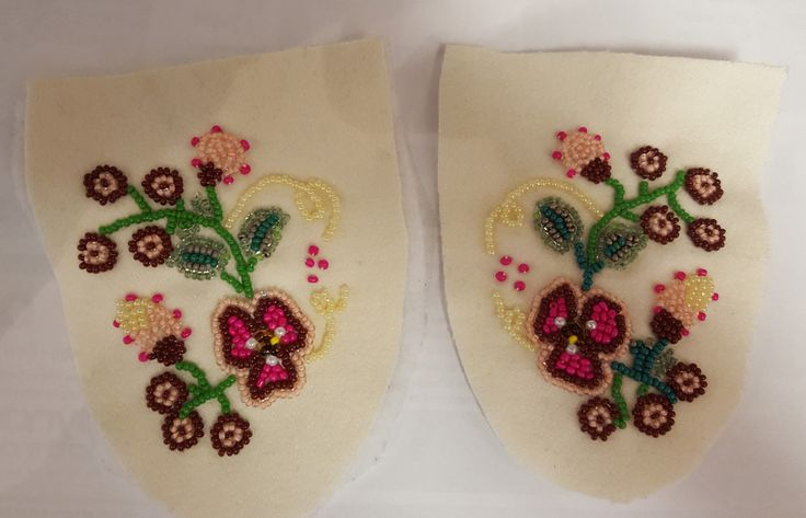 Love these vamps.#hand beaded traditional #vamps