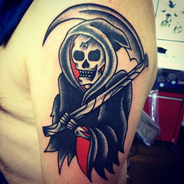 Grim Reaper Traditional Tattoo: 17 Best Images About Traditional Tattoos On Pinterest