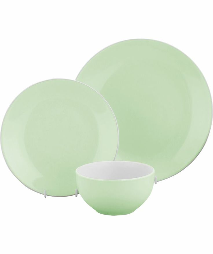 Buy ColourMatch Two-Tone 12 Piece Dinner Set-Tutti Frutti Green at Argos.co.uk - Your Online Shop for Crockery.