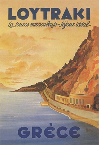 Vintage Travel Poster - Grèce/Greece -1930.