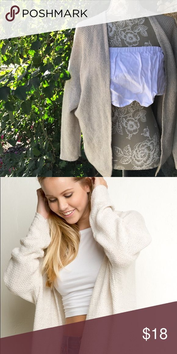 Brandy Melville Cardigan Brandy Melville Shrunken Cardigan. Very light cream color ✨Size: One size ✨Fits: XS-M ✨Make an offer!  ❣️24 hr shipping on all orders! Brandy Melville Sweaters Cardigans
