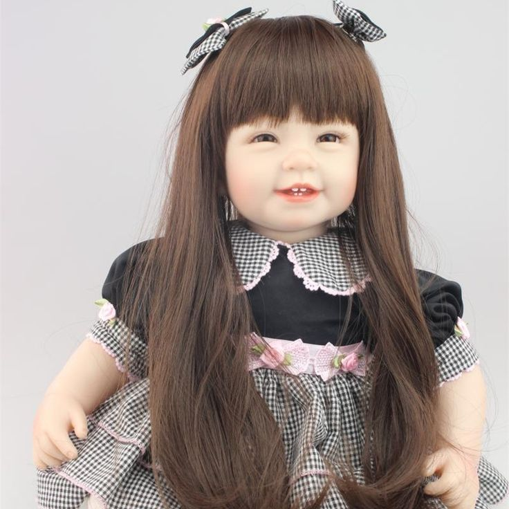 114.23$  Watch here - http://aliunc.worldwells.pw/go.php?t=32707078874 - 55CM Lifelike Girls Baby Reborn Doll Toys Bonecas Reborn De Silicone Real Looking Baby Doll Brinquedo Menina Children Gift 114.23$