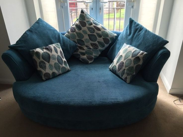 DFS Teal Corner Sofa & Cuddle Chair in very good condition, comes from a Smoke & Pet Free Home, ava