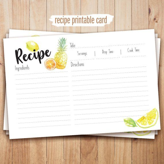 This Item Is Unavailable Etsy Printable Recipe Cards Recipe Cards Recipe Template