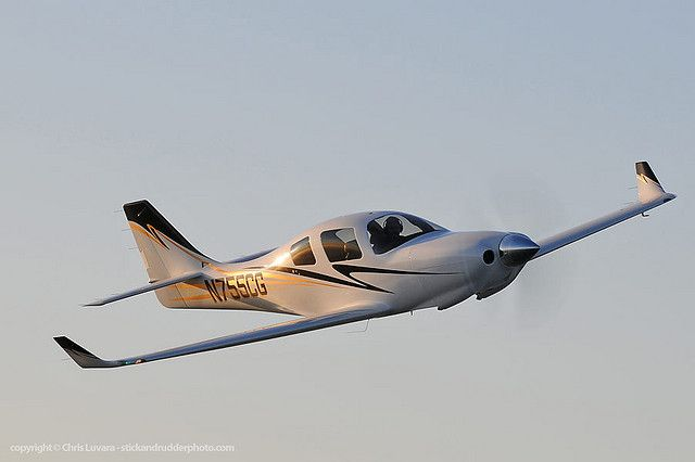The Lancair non-certified designs are simply gorgeous. This is a Lancair IV.