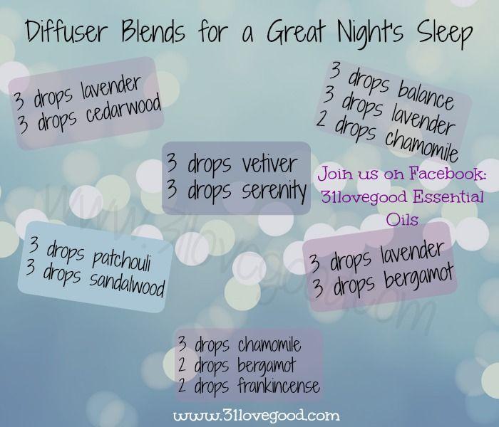 Sleep Diffuser Blends | www.31lovegood.com