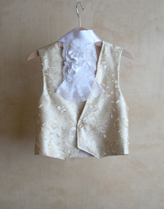 Carnival Gold vest for children with lace jabot Venice by PABUITA