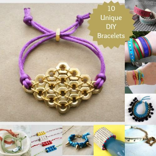 10 DIY bracelets made with unusual materials
