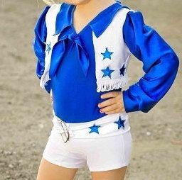 Dallas Cowboy Cheerleader Inspired Biketard/Unitard  by SENDesigne, $75.00