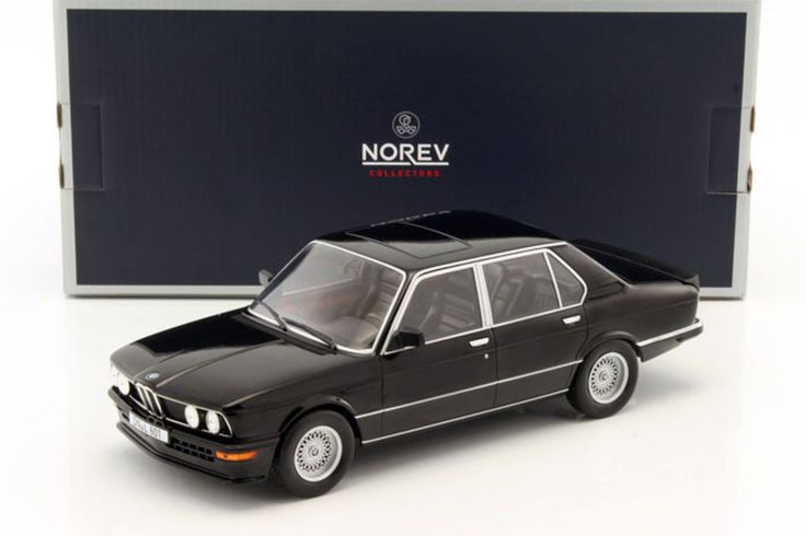 1987 BMW M535i BLACK 1/18 DIECAST MODEL CAR BY NOREV 183264 #Norev #BMW