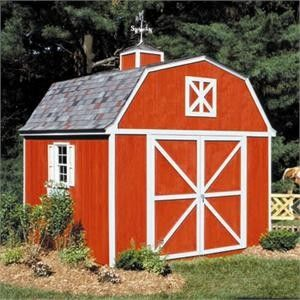 berkley barn style wood shed we offer the very popular berkley barn style wood shed that is produced by handy home products this barn style wood storage