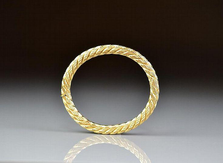 ITALIAN CARLO WEINGRILL GOLD BANGLE BRACELET