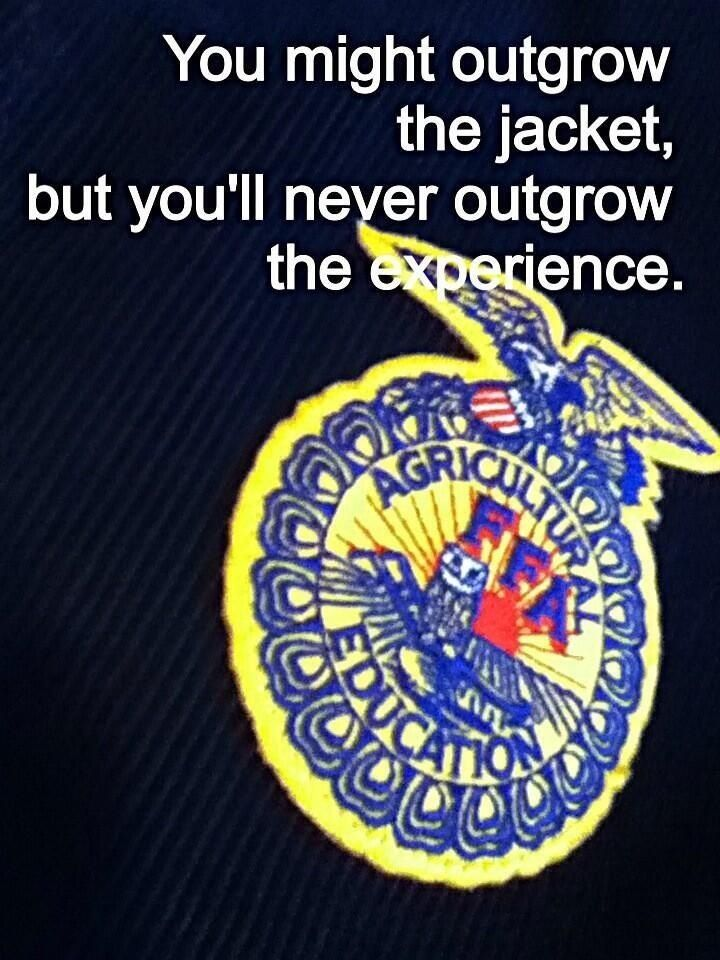 So true! Miss those days more than words could ever explain, but FFA sure helped in  making me who i am today!