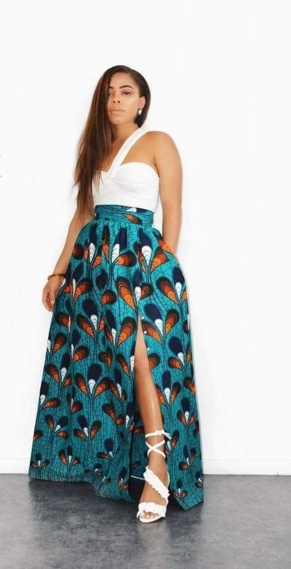 top quality fantastic savings sneakers for cheap African maxi skirt, african skirt, wax skirt, african print ...