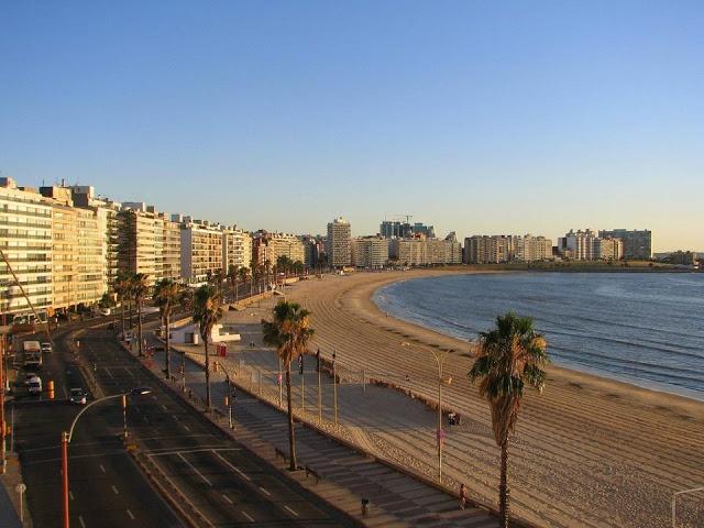 Rambla de Montevideo,Playa Pocitos.Uruguay.