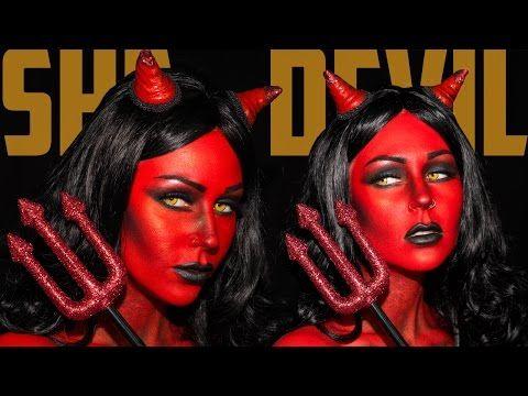 Heaven & Hell She Devil Makeup Tutorial Jordan Hanz / Kristen Leanne | KristenLeanneStyle - YouTube