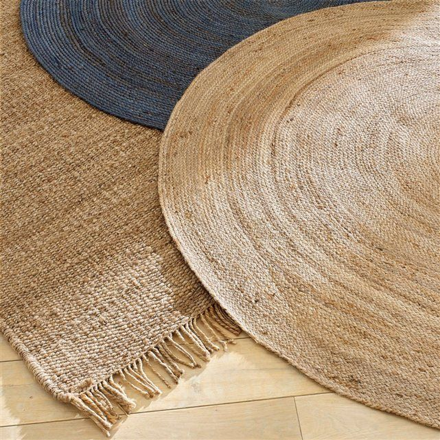 tapis en jute diam 160 cm coloris naturel aft jute and mobiles. Black Bedroom Furniture Sets. Home Design Ideas