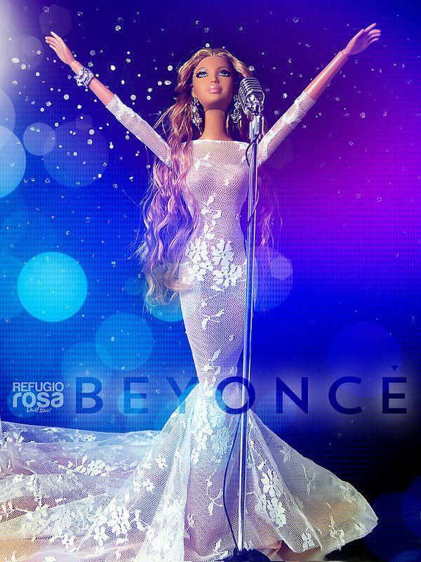 Beyoncé. Barbie Ooak doll by David Bocci for Refugio Rosa. Rerrot by Vanessa Marqués (vanelg1reroots.blogspot.com.es/)