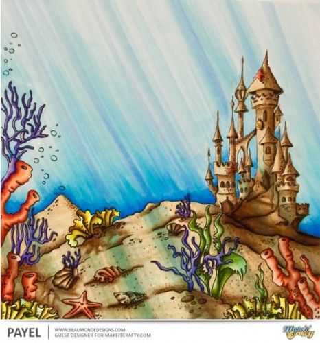 Make It Crafty; Underwater Background Coloring Tutorial.