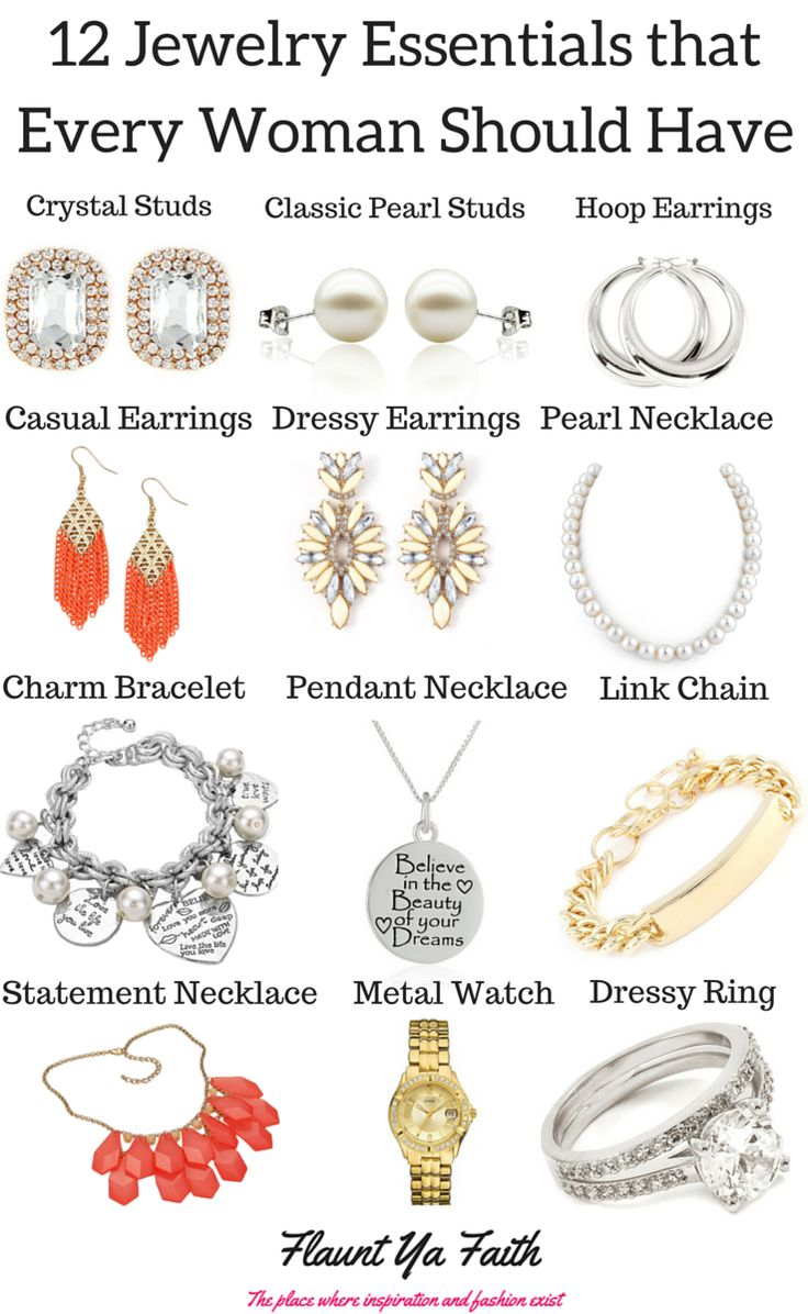 Jewelry is a unique way of expressing yourself without words. There are 12 essential jewelry pieces that everyone needs
