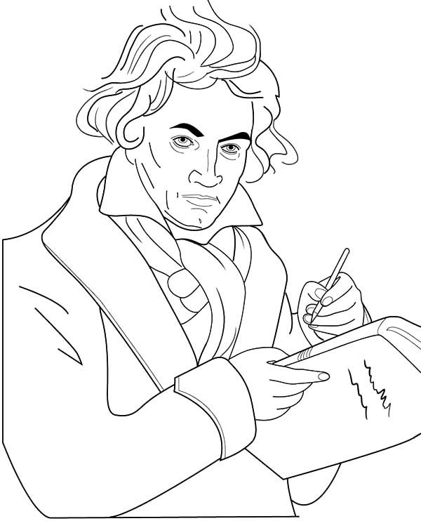 beethoven writing a symphony coloring pages  best place