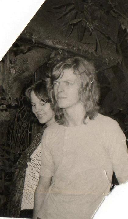 Cherry Vanilla (?) and David Bowie 70s.