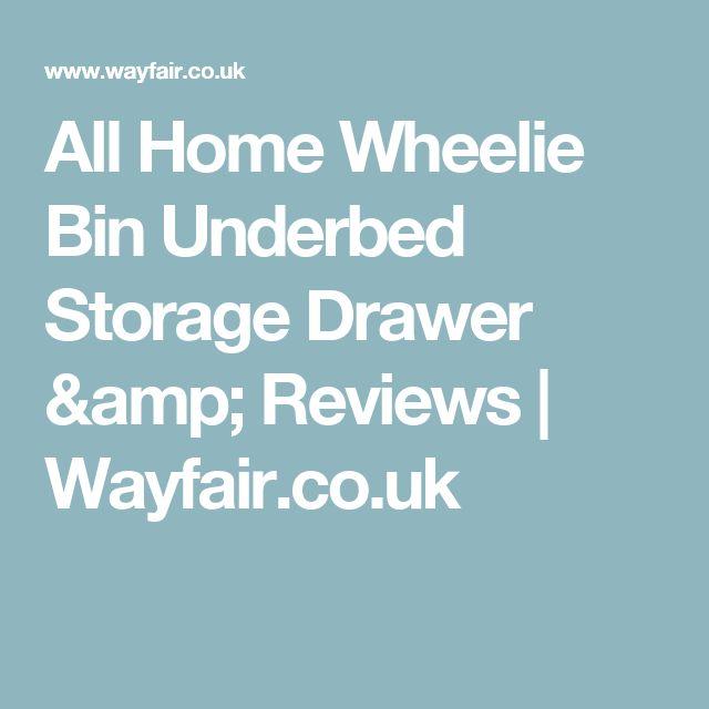 All Home Wheelie Bin Underbed Storage Drawer & Reviews   Wayfair.co.uk