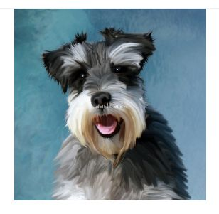 #miniature #Schnauzer Water Color Art #Painting #dog #animal #pet #bestselling get it from https://goo.gl/Gh0TIW