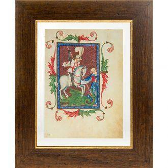 San Jorge manuscrito miniado   venta online en HOLYART