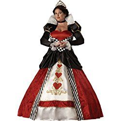 Women's Plus Size Queen Of Hearts Costume, Red/White/Black, Halloween Costume