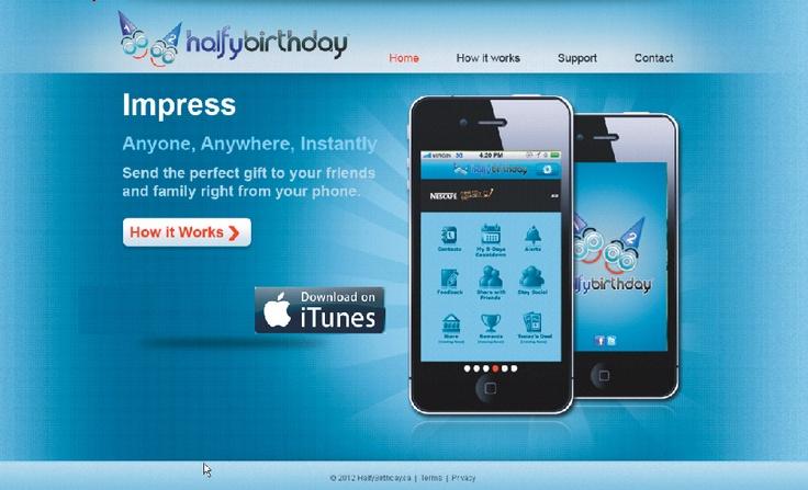 HalfyBirthday web site draft, will be live shortly.