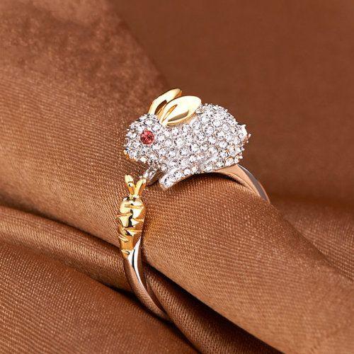 Superpresentworld Super Sweet Elegant Silver Ring For Keep