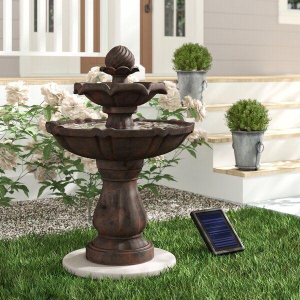Kensington Gardens 2 Tier Solar On Demand Fountain